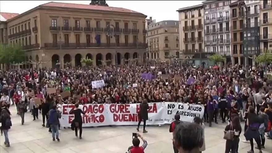Thousands demonstrate in Pamplona against Spanish gang rape case verdict