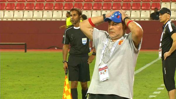 مارادونا، سرمربی تیم دسته دومی الفجیره امارات