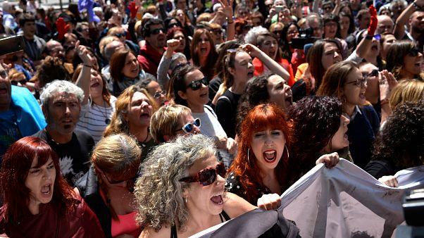 Tagelange Proteste gegen Missbrauchsurteil in Pamplona