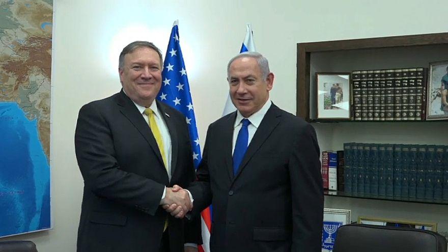 بومبيو من إسرائيل: اما تغيير الاتفاق النووي مع إيران أو الانسحاب منه