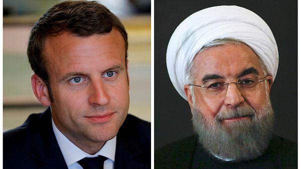 Macron ile Ruhani nükleer anlaşmayı görüştü