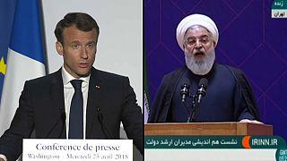 Macron y Rohaní tratan el acuerdo nuclear iraní