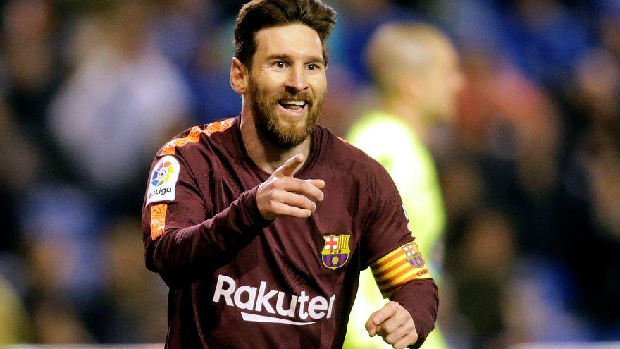 Os festejos dos adeptos do Barça nas Ramblas