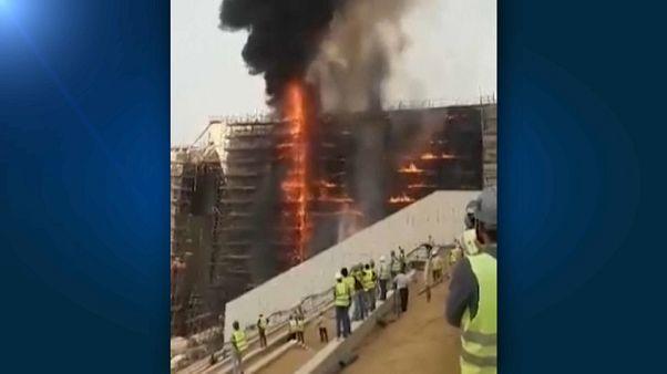 Brand auf Baustelle des Großen Ägyptischen Museums