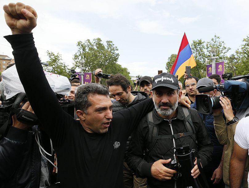 Nikol Pashinian, experiodista y diputado opositor, candidato a primer ministro
