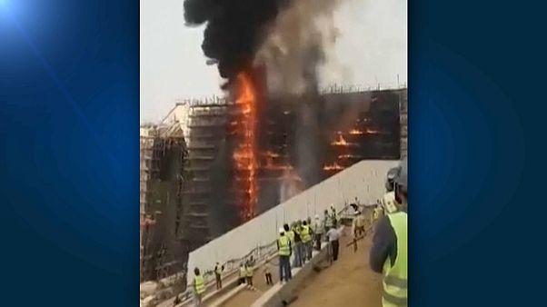 Incêndio no Grande Museu Egípcio