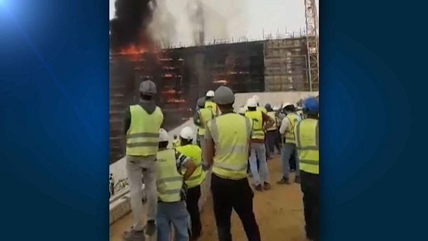 Mısır: Dünyanın en büyüğü olacak müze inşaatında yangın