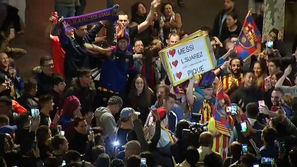 """""""Es ist unfassbar"""": Barça-Fans feiern Double-Triumph"""