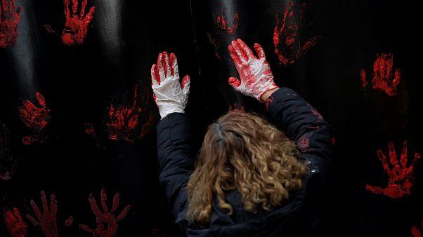 Protest in Orviedo gegen das Urteil im Vergewaltigungsprozess