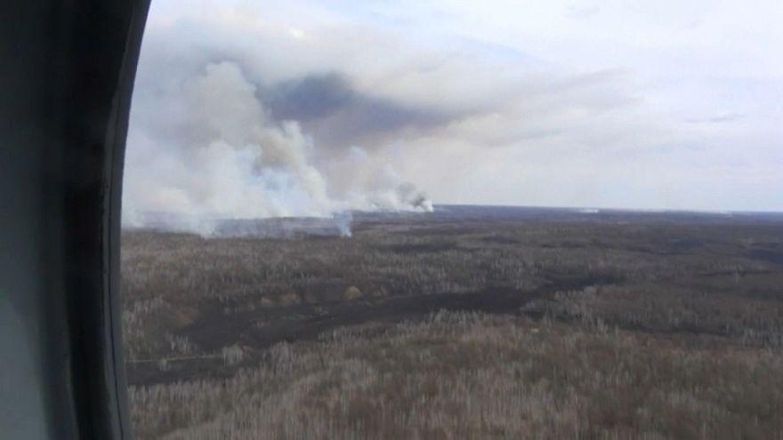 Schwere Waldbrände im Osten Russlands