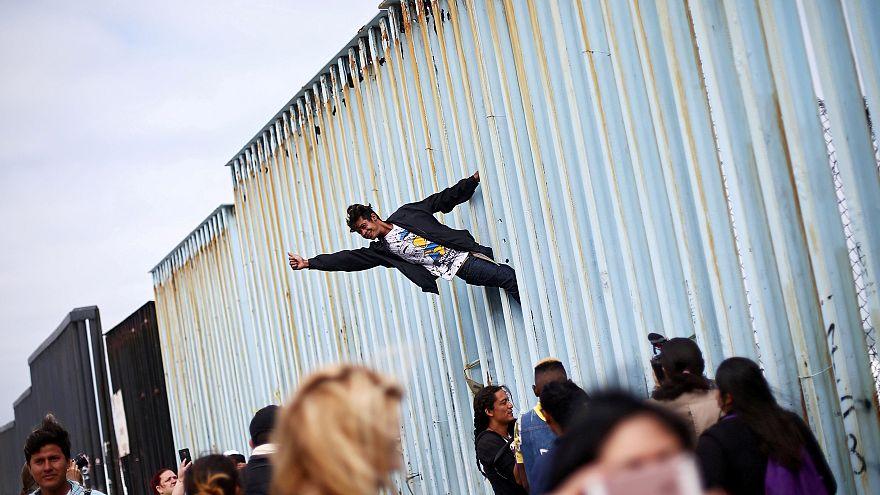 Нелегалы на заборе