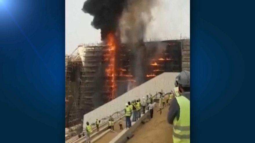 Incendio en el Gran Museo Egipcio de El Cairo
