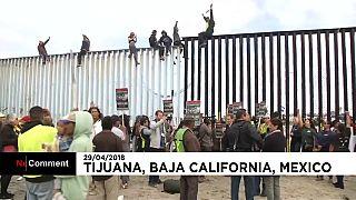 La caravana de migrantes centroamericanos llega a la frontera con EEUU