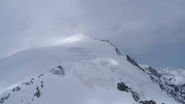 The Pigne d'Arolla mountain is pictured near Sion, Switzerland