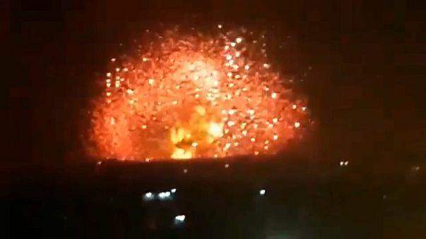 Ракетные удары по позициям правительственных войск