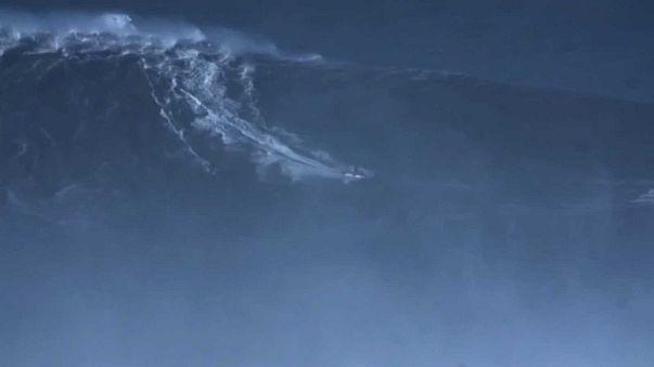 Watch: Brazilian 'breaks world record' for biggest wave surfed