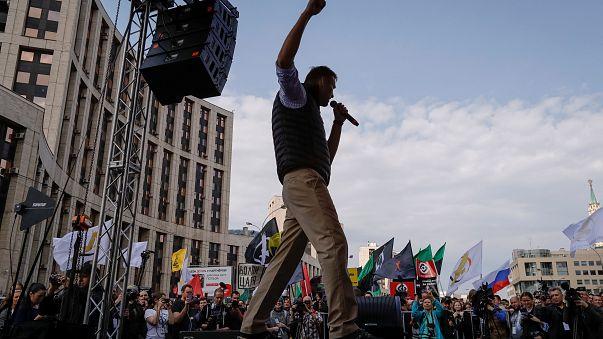 Manifestation contre la surveillance sur internet en Russie