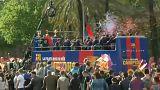 El Barça celebra su temporada sobre ruedas