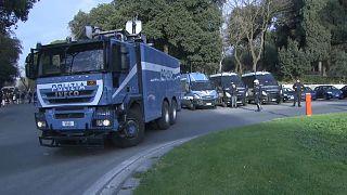إجراءات أمنية مشددة استعدادا لمباراة روما وليفربول