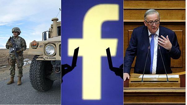 Military spending, Facebook conference, Juncker