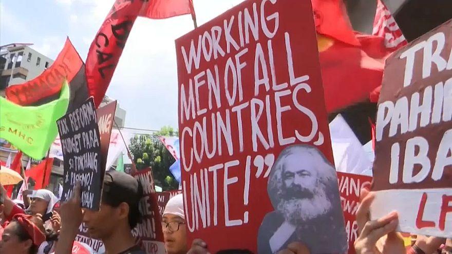 الفلبين: مسيرات حاشدة للنقابات العمالية في عيد العمال