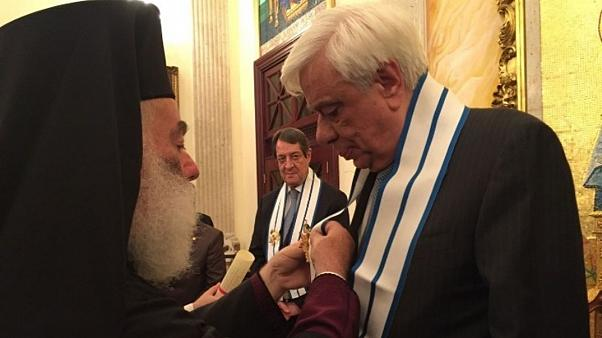 Αναστασιάδη και Παυλόπουλο τίμησε ο πατριάρχης Αλεξανδρείας