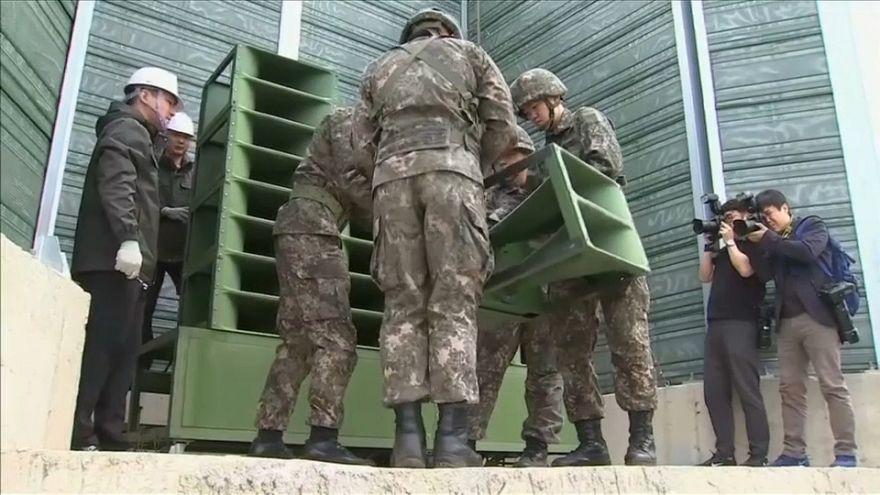 Las dos Coreas retiran sus altavoces de propaganda en la frontera