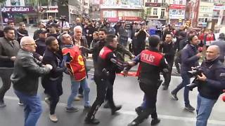 Turkish trade unions angry at corralled May Day protests and blockade of Taksim square