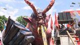 protesters burn effigy of President Duterte