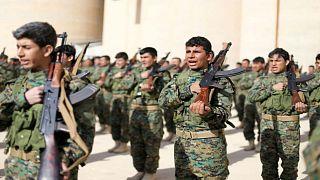 مقاتلون من قوة الحدود الأمنية الجديدة التابعة لقوات سوريا الديمقراطية