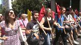 Atina'da 1 Mayıs kutlamaları
