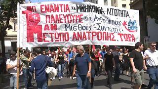Grecia: manifestaciones contra la austeridad en el Día del Trabajo