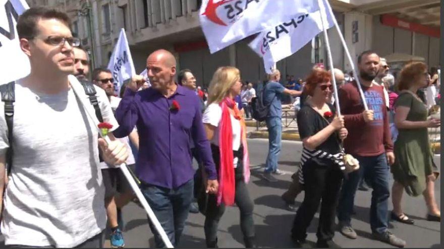 Varoufakis al Primo Maggio greco