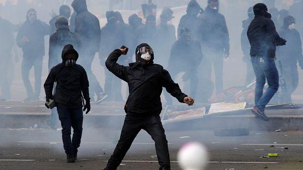 Graves incidentes en la manifestación del 1 de mayo en París