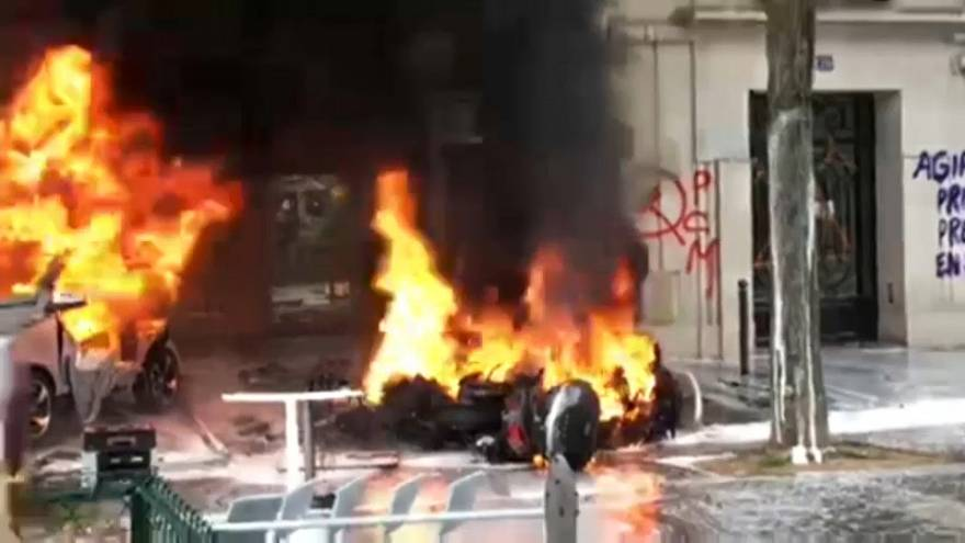 Paris'te 1 Mayıs kutlamalarında gerginlik