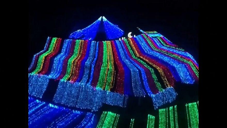 China: Beeindruckende Lichtershow