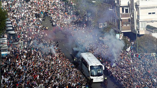 [Vídeo] Espectacular recibimiento al Real Madrid en la Champions