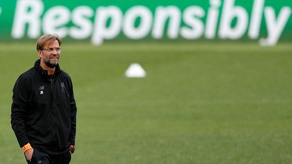 Liverpool-Trainer Jürgen Klopp beim Training vor dem Rückspiel