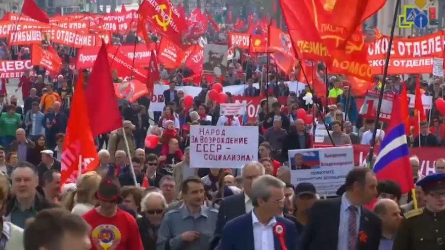 Kundgebungen zum 1.Mai in Moskau
