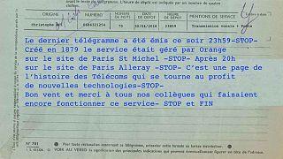 متن آخرین تلگرام ارسالی در فرانسه