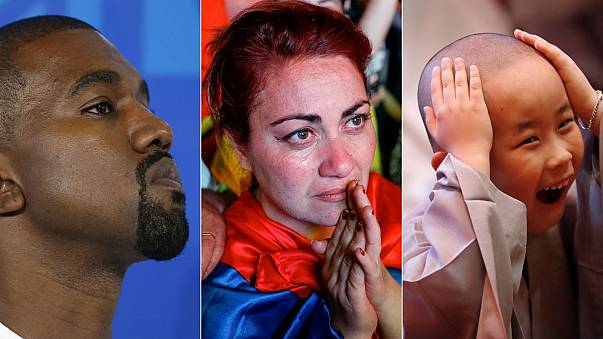 Kanye West, Armenia protests, Buddhist monk