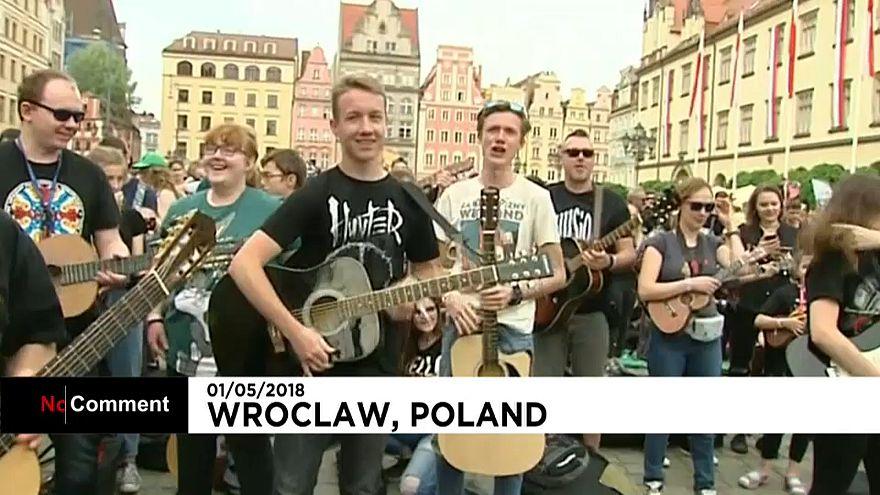 """Pologne : """"Hey Joe"""", le tube planétaire de Jimi Hendrix entre au Guinness des records"""