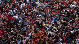 """""""Lula livre"""" no Dia do Trabalhador"""