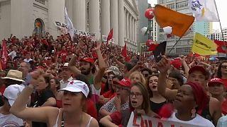 Miles de personas claman por la libertad de Lula en el Primero de Mayo