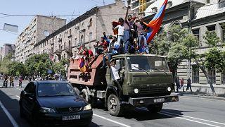 Estradas bloqueadas na região da capital arménia