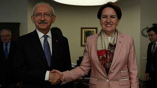 Kemal Kilicdaroglu, leader of  CHP - Iyi Party leader Meral Aksener