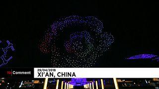 Baile de drones en China