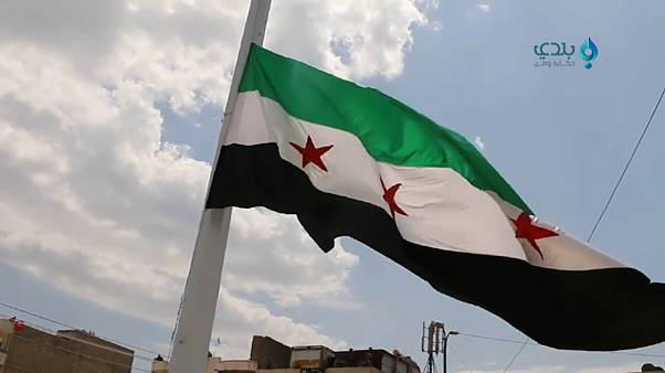 علم الثورة السورية في عفرين