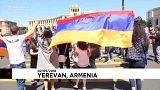Marchas estudiantiles en Armenia