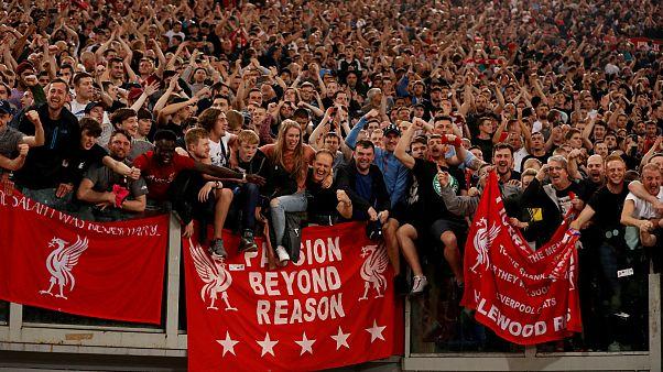 Óriási öröm a Liverpool-szurkolóknál